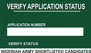 Nigerian Army Shortlisted Candidates 2018