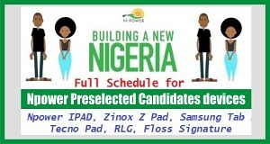 Npower Pre-selected Candidate's Devices Collection
