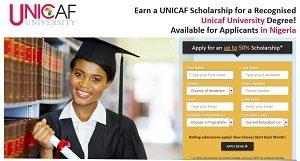 UNICAF University Scholarship 2018-2019