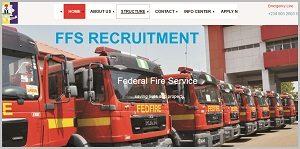 Federal Fire Service Online Recruitment 2018-2019