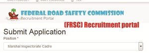 Federal Road Safety Corps (FRSC) Recruitment 2018-2019