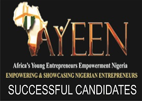AYEEN 2018 Successful Shortlisted Candidates