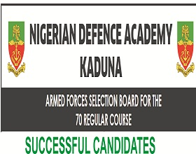 Nigerian Defence Academy (NDA) List of Successful Shortlisted Candidates 2018