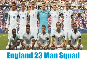 England World Cup 23 Man Squad