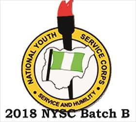 2018 NYSC Batch B Registration
