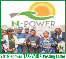 Npower TAX-VAIDS Posting Letter & Deployment