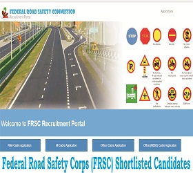 Federal Road Safety Corps list of Successful Shortlisted Candidates
