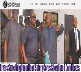 Rivers State NeighbourHood Safety Corps Shortlisted Candidates