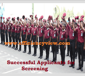 FRSC Physical Screening Exercise 2018