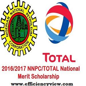 NNPC/Total National Merit Scholarships Awards 2018/2019