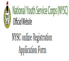 NYSC online Registration Application Form 2018