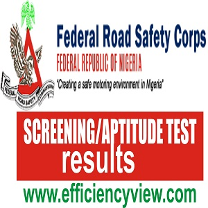2018 FRSC Aptitude Test Examination Screening Results for Final Successful Shortlisted Candidates