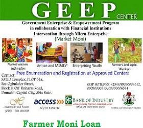 FG Farmer Moni Loan GEEP Initiative