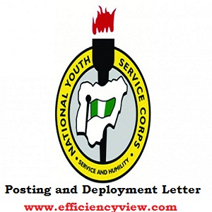 NYSC Batch C Posting and Deployment Letter 2018/2019