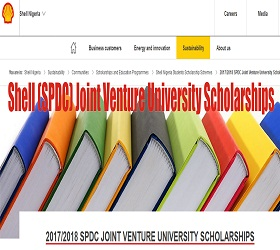Shell (SPDC) Joint Venture University Scholarships
