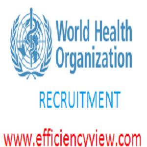2018/2019 World Health Organization WHO Recruitment