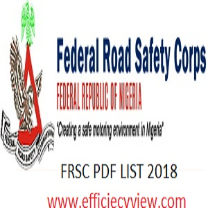 FRSC Final List of Shortlisted Candidates