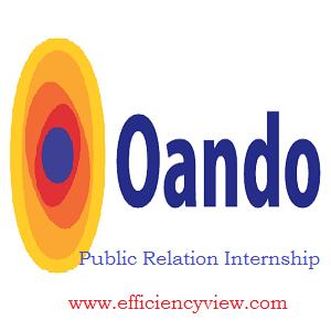 Oando Public Relation Internship Competition