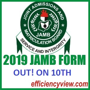 Latest News about 2019 JAMB Form