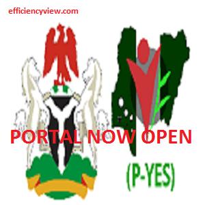 P-YES Registration Form portal