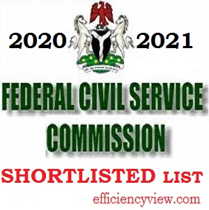 Photo of FCSC List of Shortlisted Candidate for Internal and External Vacancies 2020/2021 check here