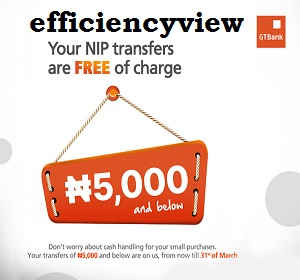 Photo of GTBank Transfer of N5000 and below is now free of Charge great news