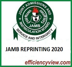 When will UTME Candidates start reprinting of 2020 JAMB UTME Examination Slip