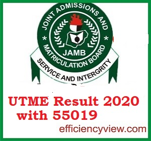 JAMB UTME Result 2020: New method to check 2020 Result with 55019