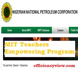 NNPC /Total MIT Teachers Empowering Program 2020/2021