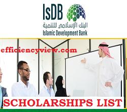 Islamic Development Bank (IsDB) Scholarships Shortlisted Candidates