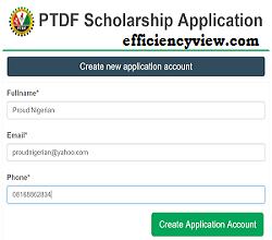 Photo of PTDF Scholarship Applicant Login/Registration Portal www.scholarship.ptdf.gov.ng