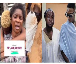 Photo of Davido credits account of a boy who edited his agbada photo of himself and Wizkid with one million