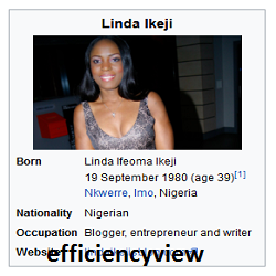 Photo of Welcome to Linda Ikeji Blogs create account to get latest news www.lindaikejisblog.com: see her twitter handle here