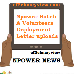 Photo of Npower Batch A Volunteers Deployment Letter uploads via NPVN Profile Portal 2020/2021 – A must read