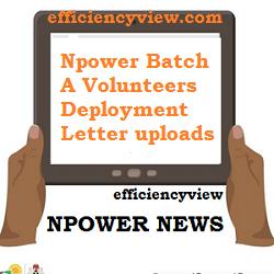 Photo of Npower Batch A Volunteers Deployment Letter uploads via NPVN Profile Portal 2020/2021 – A must read
